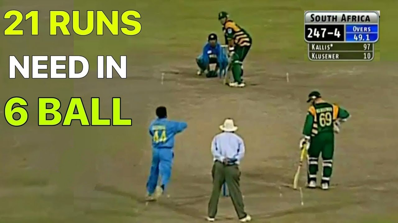 2002 के चैंपियंस ट्रॉफी सेमीफाइनल का वो आखरी ओवर जिसने पूरी दुनिया की सांसें थाम दी थी// IND vs SA