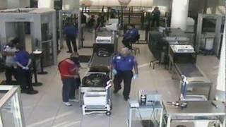 TSA pulls down man