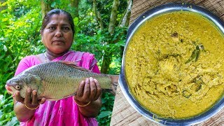 Village Food: Muri Gonto Village Cooking, Catla Fish Head and Mung Beans
