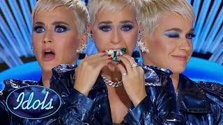 KATY PERRY Meets her Spirit Animal in the American Idol Audition Room! Idols Global