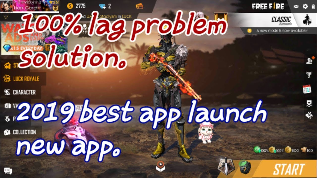 Free fire lag problem 100% solve/new app 2019/new game booster app