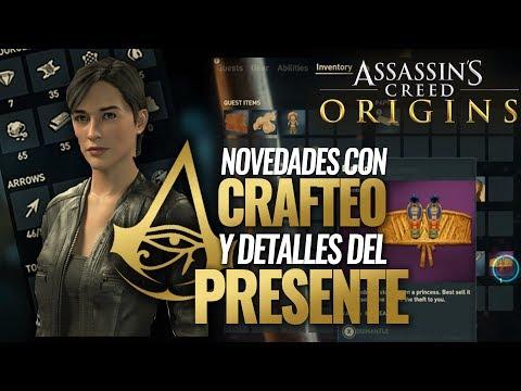 Assassin's Creed Origins   CRAFTEO & INVENTARIO   Detalles del PRESENTE Torre (Bishop) No aparecerá