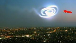 5 Таинственных объектов в небе, снятых на камеру. НЛО в небе