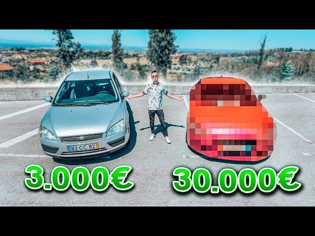 CARRO DE 3.000€ vs SUPERCARRO DE 30.000€