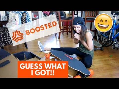 BOOSTED BOARD 2 UNBOXING, TEST RIDE, AND REVIEW - MY FIRST TIME | Vlog 114