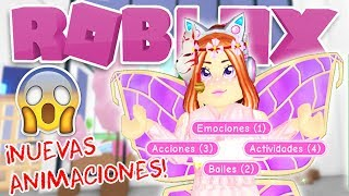*NEW* ANIMATIONS IN ADOPT ME! AND THEY ARE FREE! 🤪🧚 ♀️ ROBLOX IN SPANISH