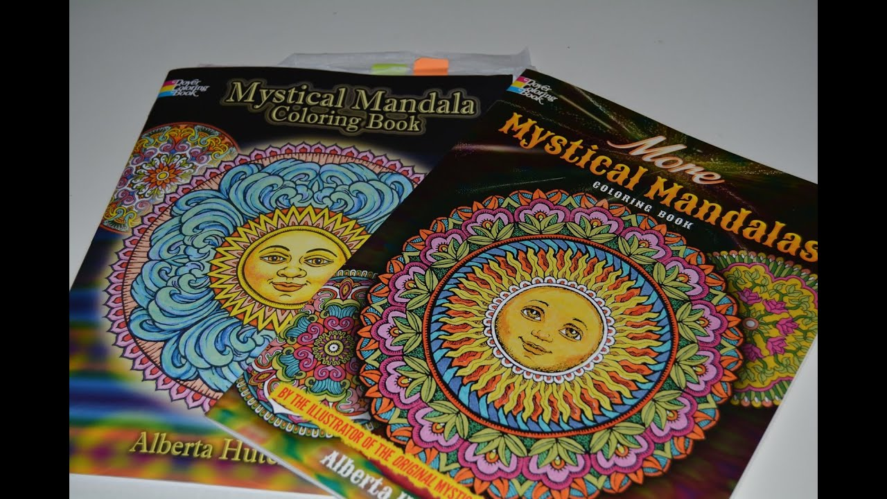 Coloring Book Comparison Mystical Mandala More Mystical Mandalas