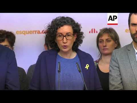 Catalan leaders slam 'politically motivated' ruling on jailed separatists