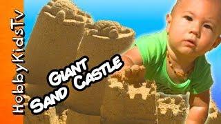 Disney BIG SANDCASTLE Surprise Eggs! Toy Hunt w/HobbyGator SMASH + Treasure Toys HobbyKidsTV