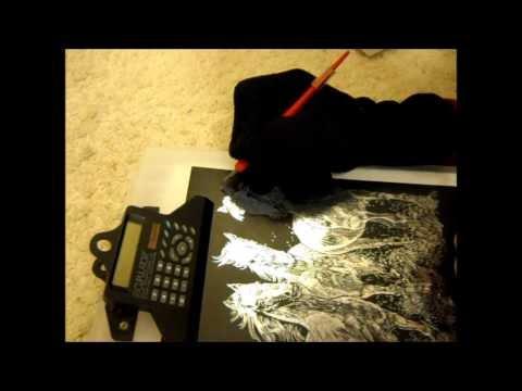 MasterLupin03 presents Etching art on Blackboard project pt2