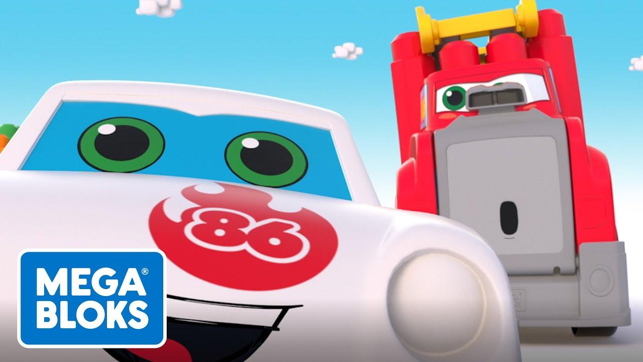 MEGA BLOKS™ | Super lavado de autos de gran tamaño | NOVO | Desenhos Animados | Para crianças