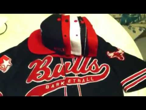 64d199786a1 Vintage Chicago bulls SnapBacks and jersey lot for sale - YouTube