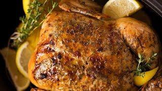 Lemon Garlic SLOW COOKER Roast Chicken