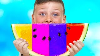 ALİNİN SİHİRLİ KARPUZ, Learn colors with Colored Magic Watermelon