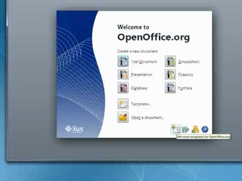 How to use Templates in OpenOffice org   YouTube