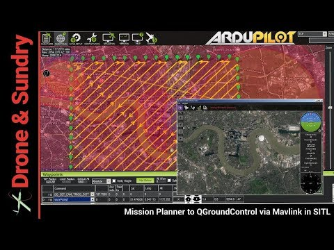 Mission Planner to QGroundControl via MAVLINK in SITL - YouTube