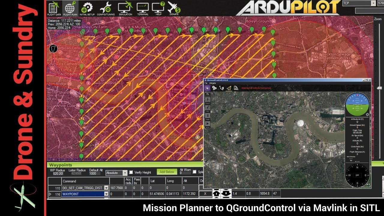 Mission Planner to QGroundControl via MAVLINK in SITL