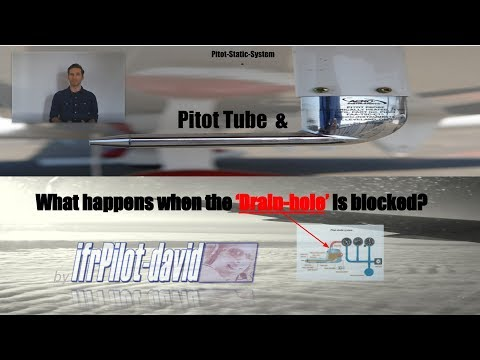 PITOT-TUBE, DRAIN-HOLE-Blockage & MORE (Pitot-Static-System