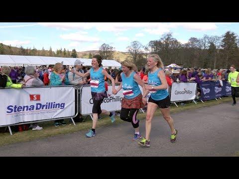 RunBalmoral 2018 Stena Drilling Tartan 10K race FINISH at Balmoral Castle, Scotland