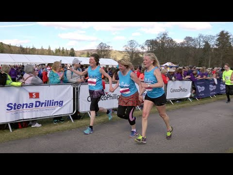 RunBalmoral 2018 Stena Drilling Tartan 10K Race FINISH At Balmoral Castle, Scotland