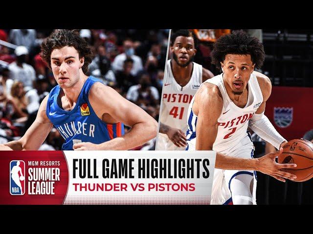 THUNDER at PISTONS | NBA SUMMER LEAGUE | FULL GAME HIGHLIGHTS