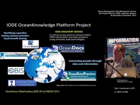 OceanTeacher - Marine Biogeographic Data Management - Topic: introduction to IODE and OBIS