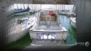 Bertram yacht 30 fly power boat, flybridge yacht year - 1985