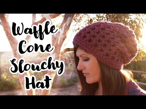 Waffle Cone Slouchy Hat Crochet Pattern
