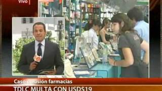 TDLC confirma colusión de farmacias chilenas y fija millonarias multas - CANAL 13 2012