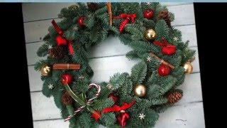 30 вариантов новогоднего  венка на дверь своими руками(Новогодний венок стал одним из самых любимых новогодних украшений.А для тех, кто стремится создать праздни..., 2015-12-09T16:05:04.000Z)