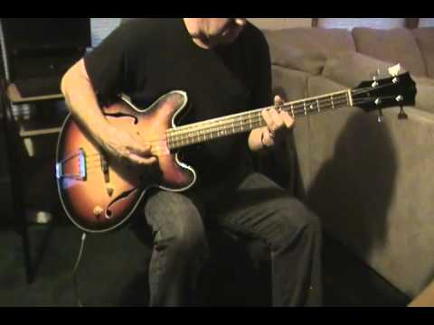 aria hollow body electric bass guitar youtube. Black Bedroom Furniture Sets. Home Design Ideas