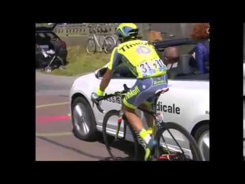 ALBERTO CONTADOR CRASH - TOUR DE FRANCE 2016
