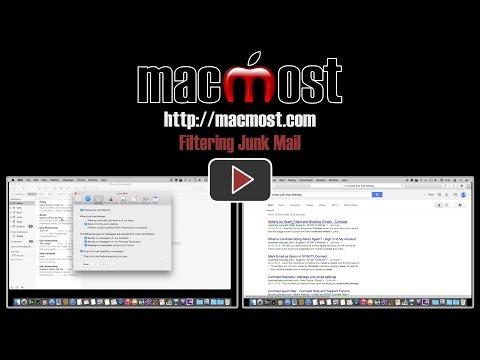 Filtering Junk Mail (MacMost #1054)