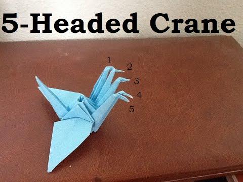 Origami 5-Headed Crane