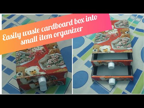 Recycle waste box In To small item organizer