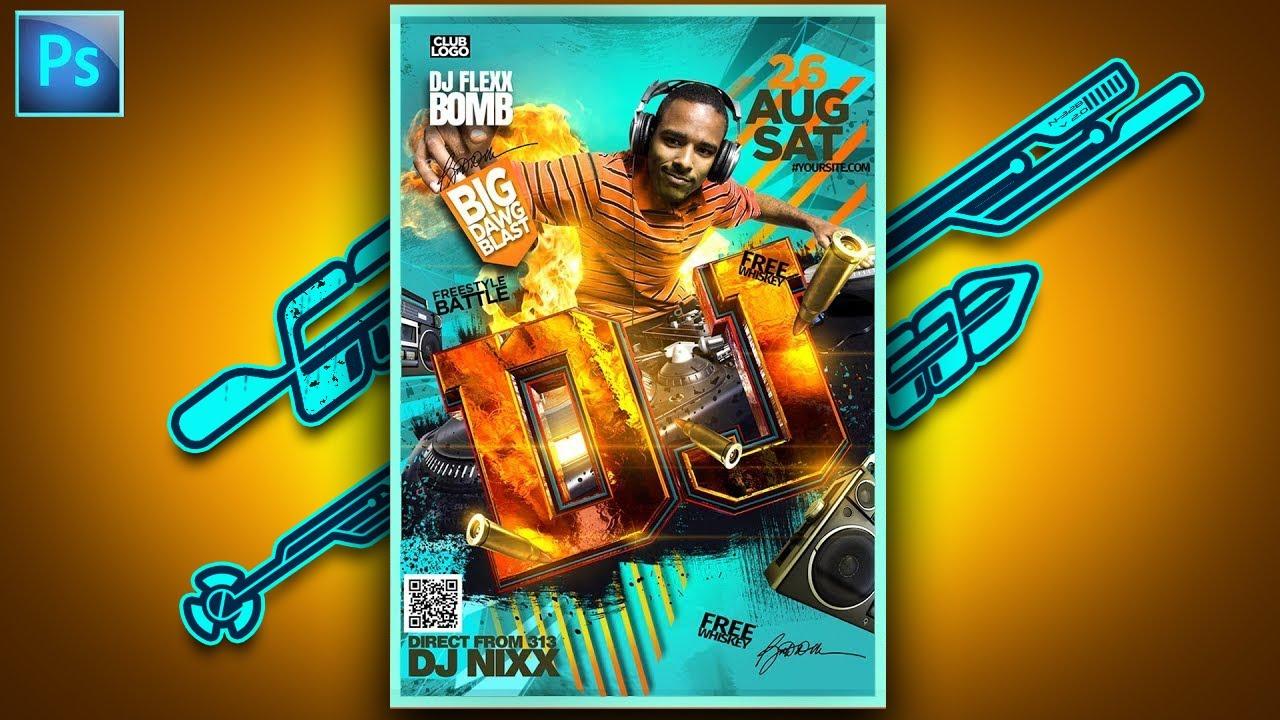 social media poster design photoshop