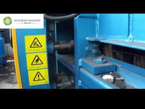 HUICHENG MACHINE Hydraulic horizonta automatic baler, auto tie baling machine, cardboard compactor