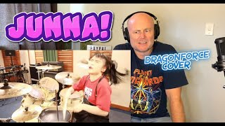 Drum Teacher Reacts: JUNNA   Through The Fire And Flames / DragonForce - Drum Cover (2021 Reaction)