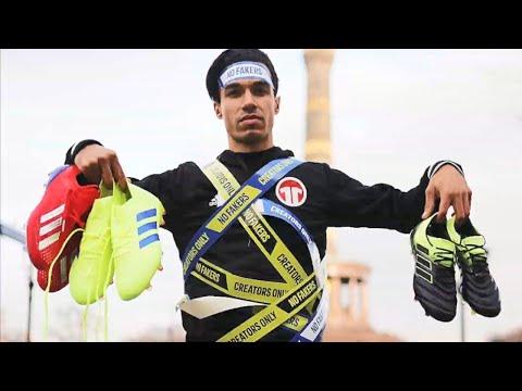 Für Adidas in Berlin⚽ neue Fußballschuhe testen