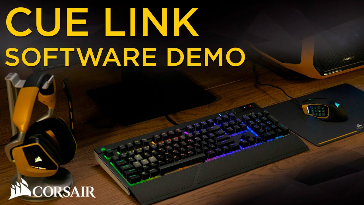 Corsair Cue Link Rgb Software Demo Youtube Computer Circuit Board Mousepad By Admincp70839509