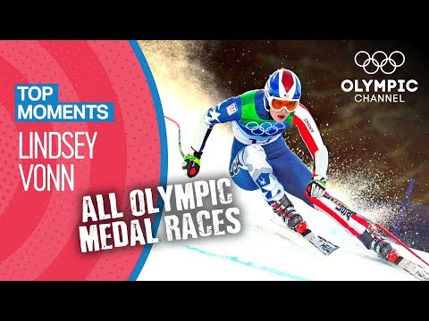 Lindsey Vonn - ALL Olympic Medal Races in Full Length |Top Moments