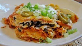 Mexican Lasagna Or Corn Tortilla Casserole - Vegetarian