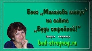 """О блоге Малахова минус на  сайте """"Будь стройной!""""-2-я  страница"""