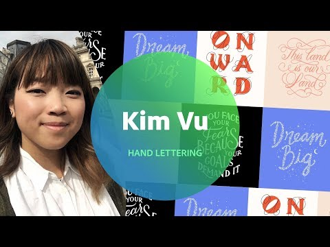 Hand Lettering with Kim Vu - 1 of 3