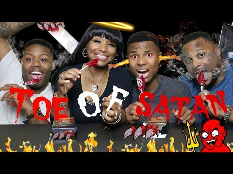 WORLD'S HOTTEST LOLLIPOP CHALLENGE (Toe Of Satan)/Extremely Hot!/⚠Spitting up/Don't try this at home