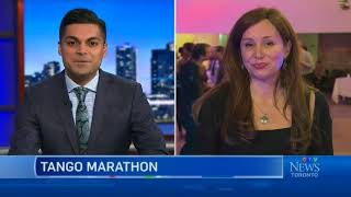 Toronto Tango Marathon live interview on CTV News