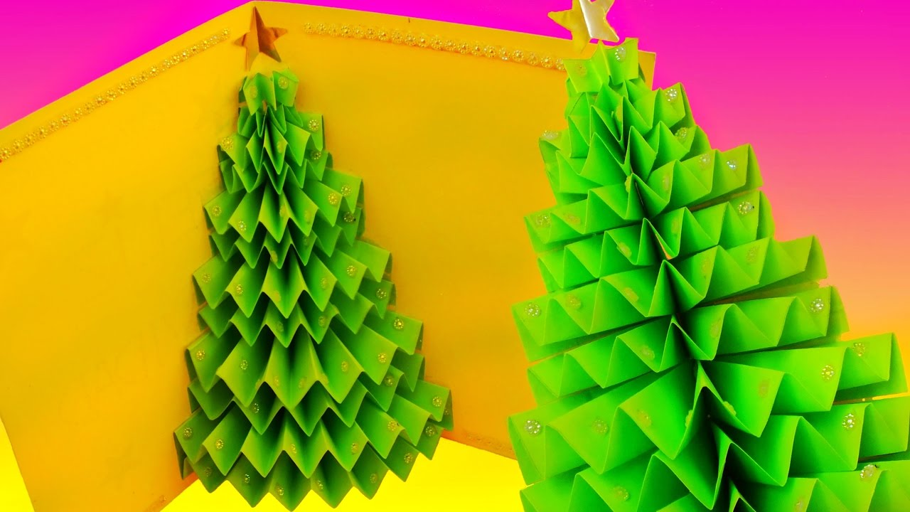 DIY 3D CHRISTMAS TREE Pop-up CARD