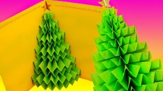 DIY 3D CHRISTMAS TREE pop-up CARD - Greeting card