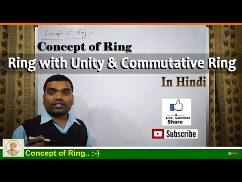Concept of Ring, Ring with Unity & Commutative Ring in hindi