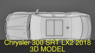 3D Model of Chrysler 300 SRT LX2 2018 Review